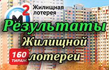 Результаты жилищная лотерея тираж 160