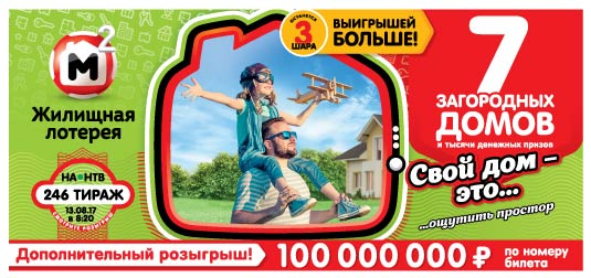 10 загородных домов в 246 тираже Жилищной лотереи