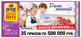 Результаты Русское лото тираж 1195