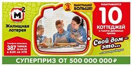 387 тираж Жилищной лотереи