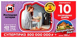 425 тираж Жилищной лотереи